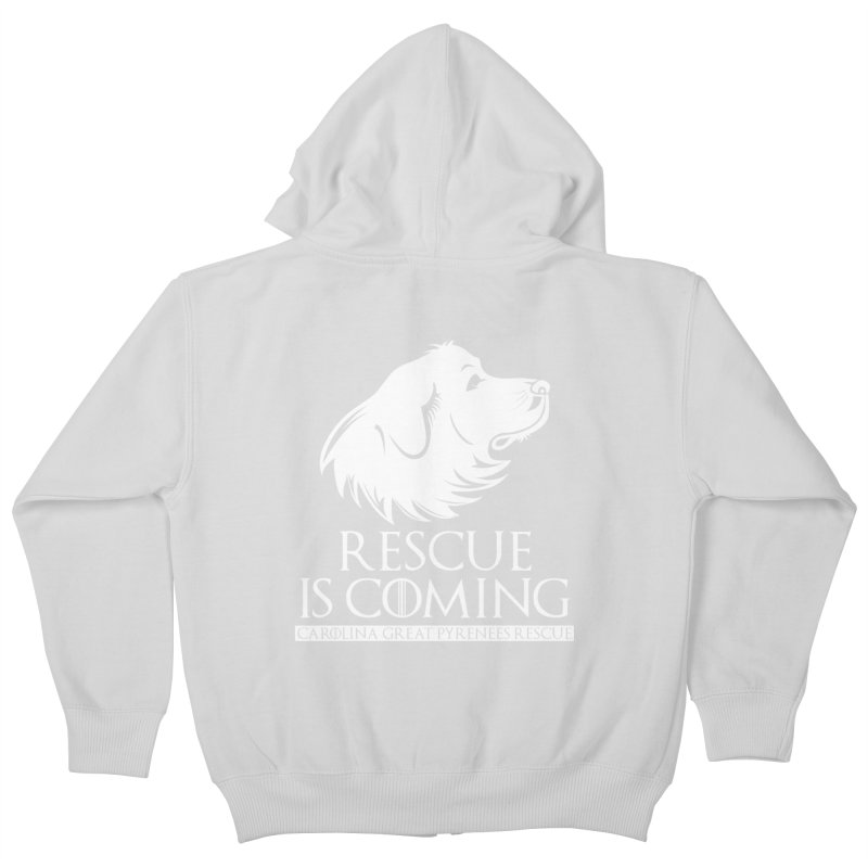 Rescue is Coming CGPR Kids Zip-Up Hoody by Carolina Great Pyrenees Rescue's Shop