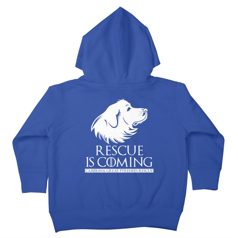 Rescue is Coming CGPR Kids Toddler Zip-Up Hoody by Carolina Great Pyrenees Rescue's Shop