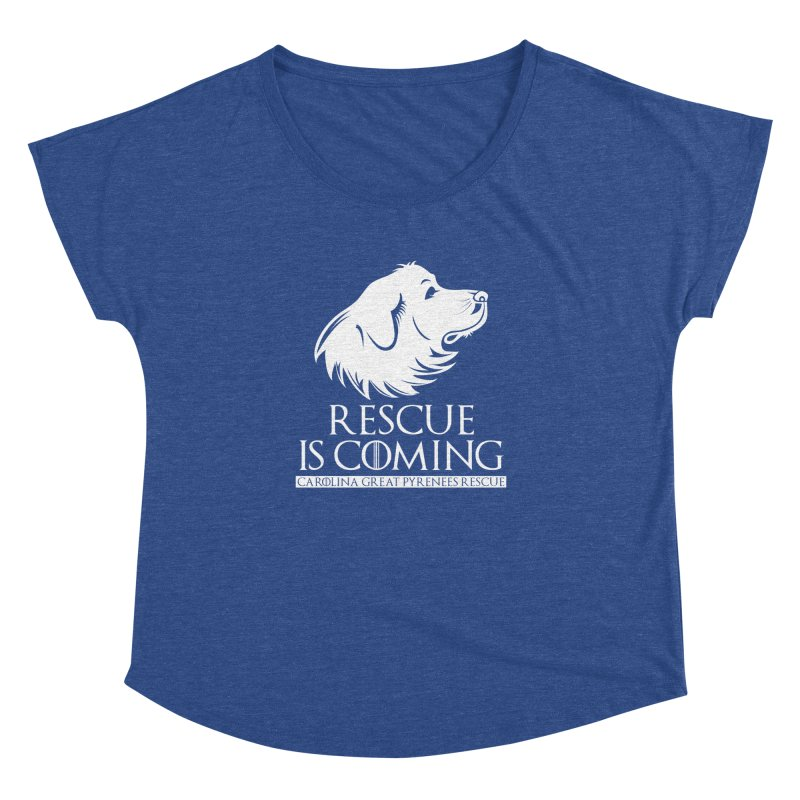 Rescue is Coming CGPR Women's Dolman by Carolina Great Pyrenees Rescue's Shop