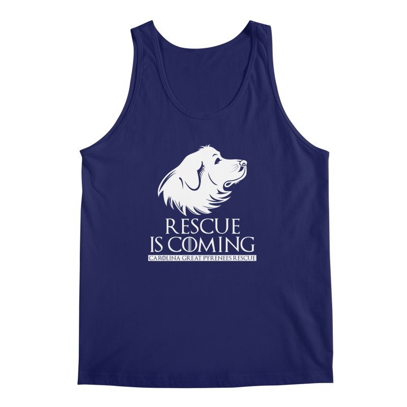 Rescue is Coming CGPR Men's Tank by Carolina Great Pyrenees Rescue's Shop