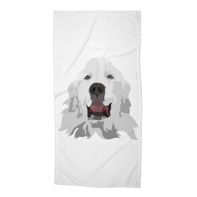 Greatest Pyr Accessories Beach Towel by Carolina Great Pyrenees Rescue's Shop