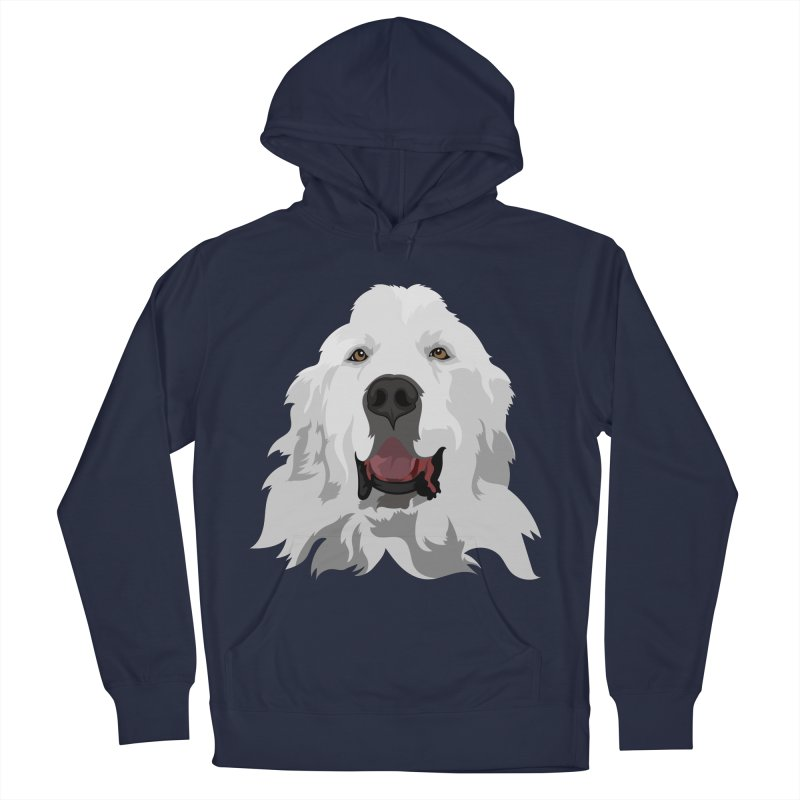 Greatest Pyr Women's French Terry Pullover Hoody by Carolina Great Pyrenees Rescue's Shop