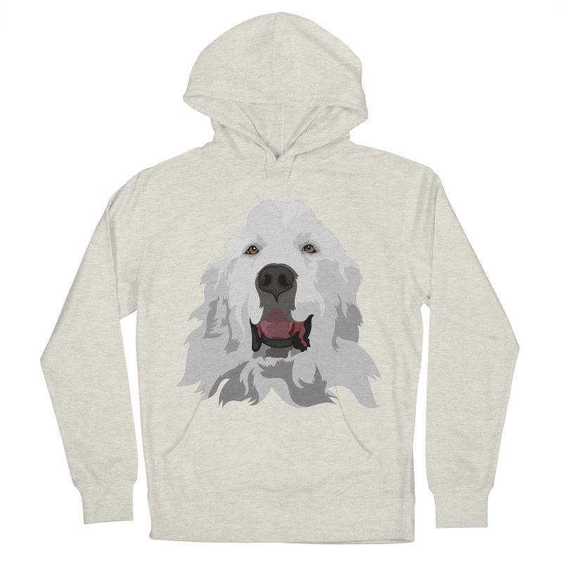 Greatest Pyr Men's French Terry Pullover Hoody by Carolina Great Pyrenees Rescue's Shop