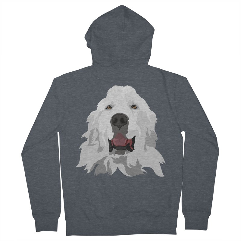 Greatest Pyr Men's French Terry Zip-Up Hoody by Carolina Great Pyrenees Rescue's Shop