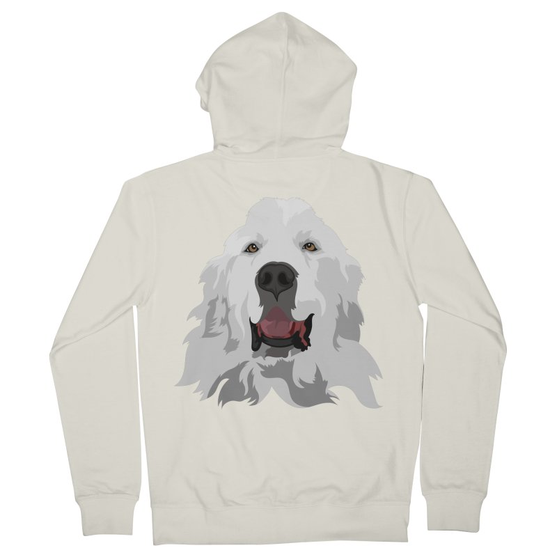 Greatest Pyr Men's Zip-Up Hoody by Carolina Great Pyrenees Rescue's Shop