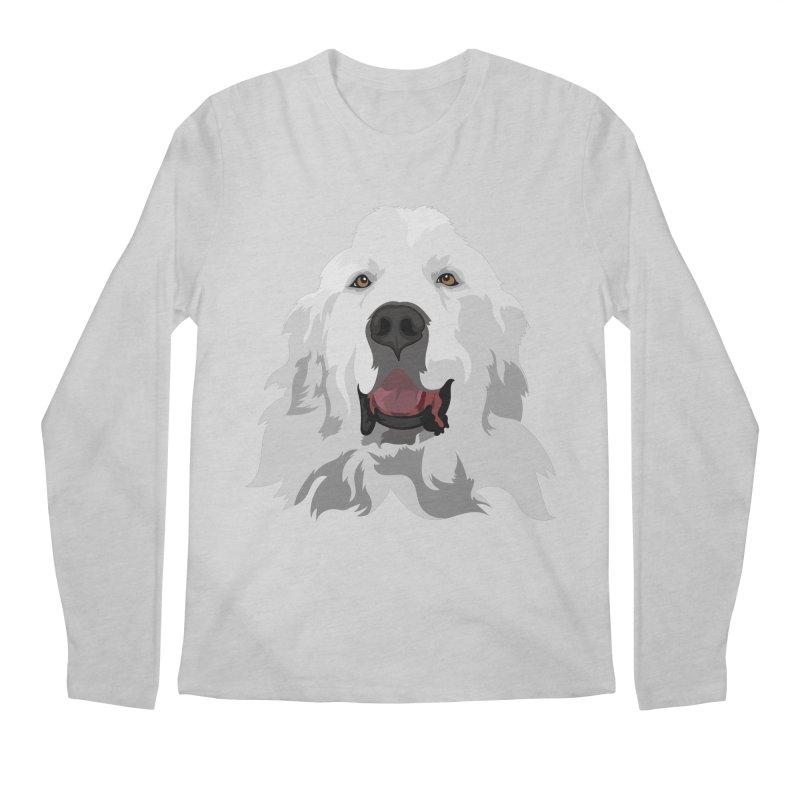 Greatest Pyr Men's Longsleeve T-Shirt by Carolina Great Pyrenees Rescue's Shop