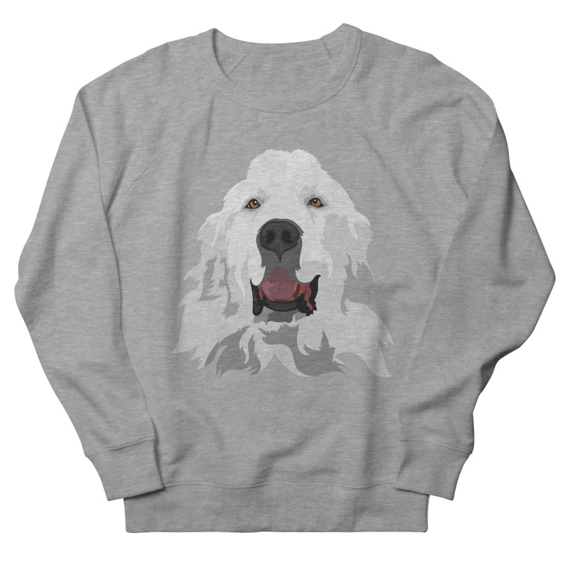 Greatest Pyr Women's French Terry Sweatshirt by Carolina Great Pyrenees Rescue's Shop