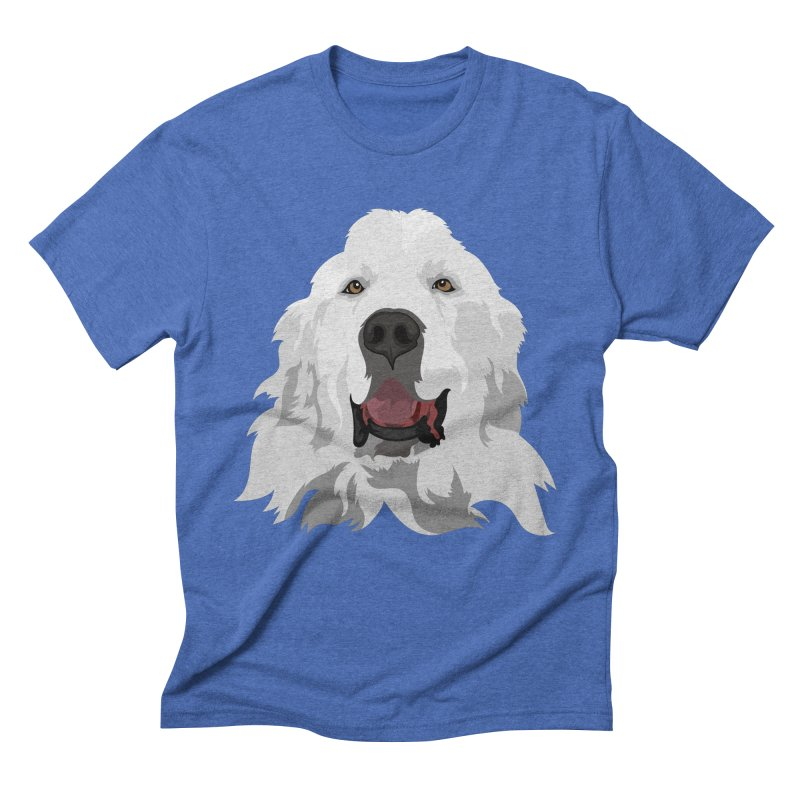Greatest Pyr Men's Triblend T-Shirt by Carolina Great Pyrenees Rescue's Shop