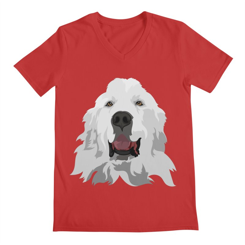 Greatest Pyr Men's V-Neck by Carolina Great Pyrenees Rescue's Shop