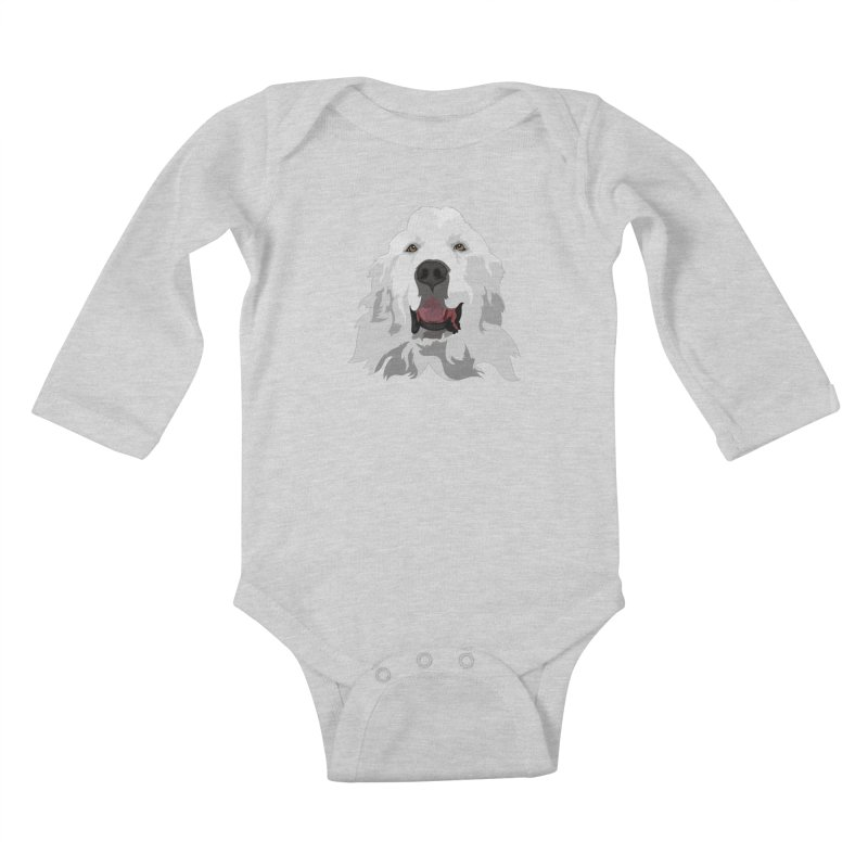 Greatest Pyr Kids Baby Longsleeve Bodysuit by Carolina Great Pyrenees Rescue's Shop