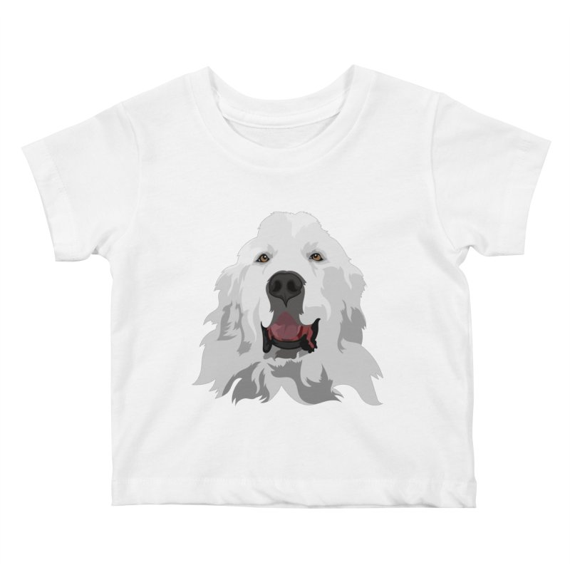 Greatest Pyr Kids Baby T-Shirt by Carolina Great Pyrenees Rescue's Shop