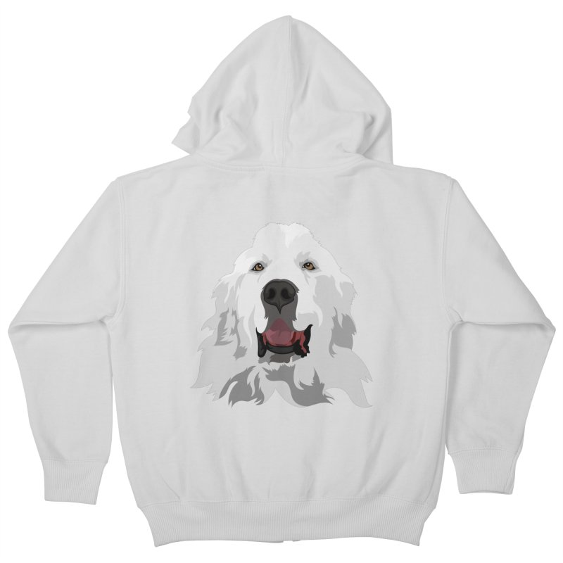 Greatest Pyr Kids Zip-Up Hoody by Carolina Great Pyrenees Rescue's Shop