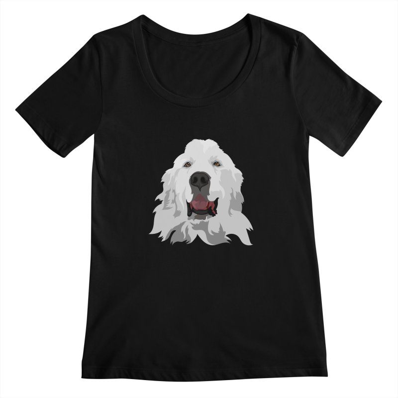 Greatest Pyr Women's Scoopneck by Carolina Great Pyrenees Rescue's Shop