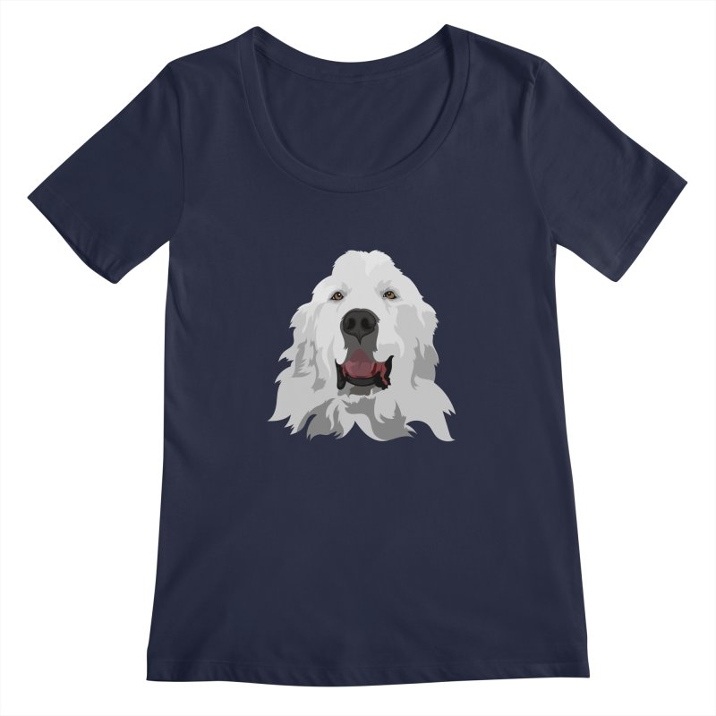 Greatest Pyr Women's Regular Scoop Neck by Carolina Great Pyrenees Rescue's Shop