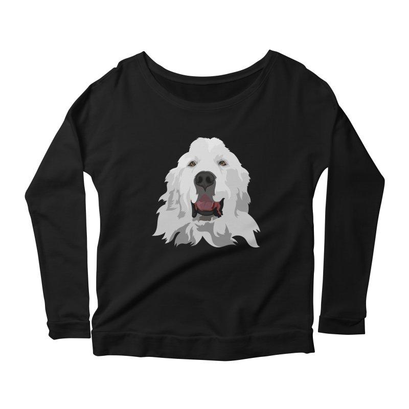 Greatest Pyr Women's Scoop Neck Longsleeve T-Shirt by Carolina Great Pyrenees Rescue's Shop