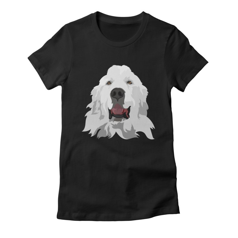 Greatest Pyr Women's Fitted T-Shirt by Carolina Great Pyrenees Rescue's Shop