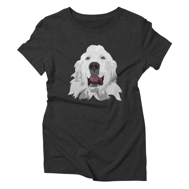 Greatest Pyr Women's Triblend T-Shirt by Carolina Great Pyrenees Rescue's Shop