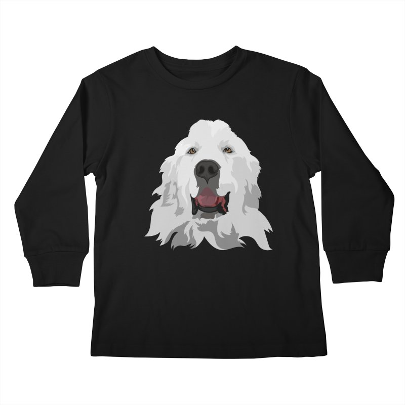 Greatest Pyr Kids Longsleeve T-Shirt by Carolina Great Pyrenees Rescue's Shop