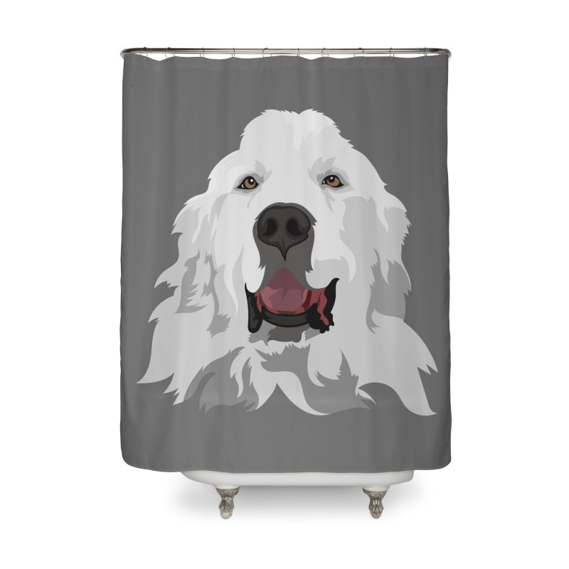 Greatest Pyr Home Shower Curtain by Carolina Great Pyrenees Rescue's Shop