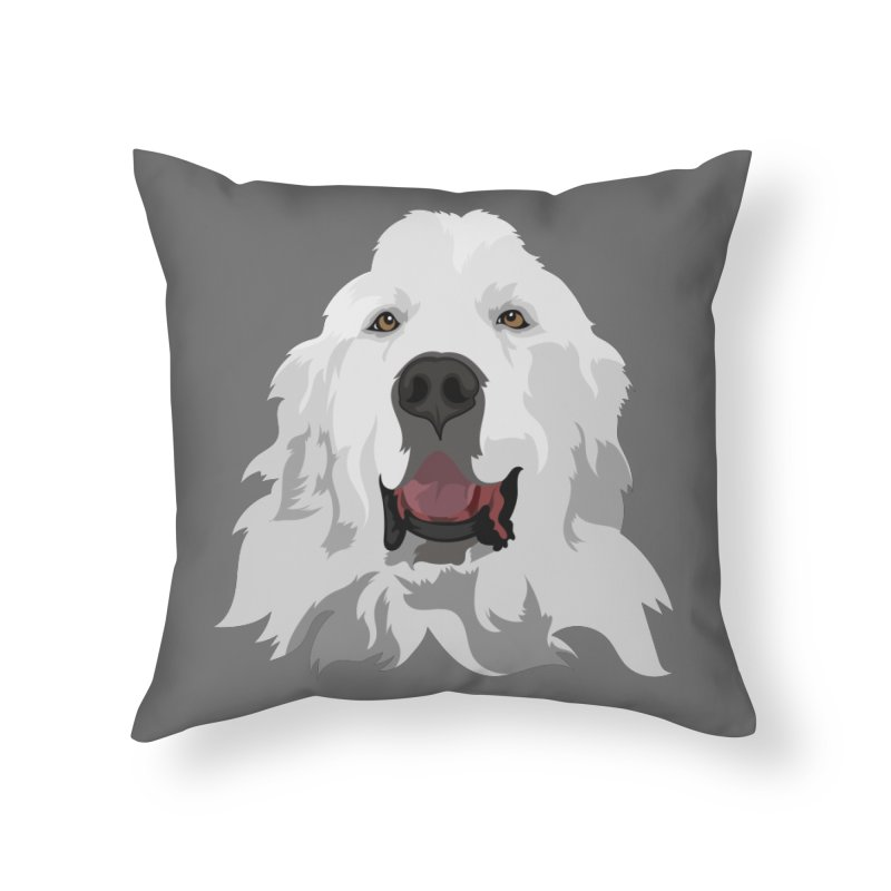 Greatest Pyr Home Throw Pillow by Carolina Great Pyrenees Rescue's Shop