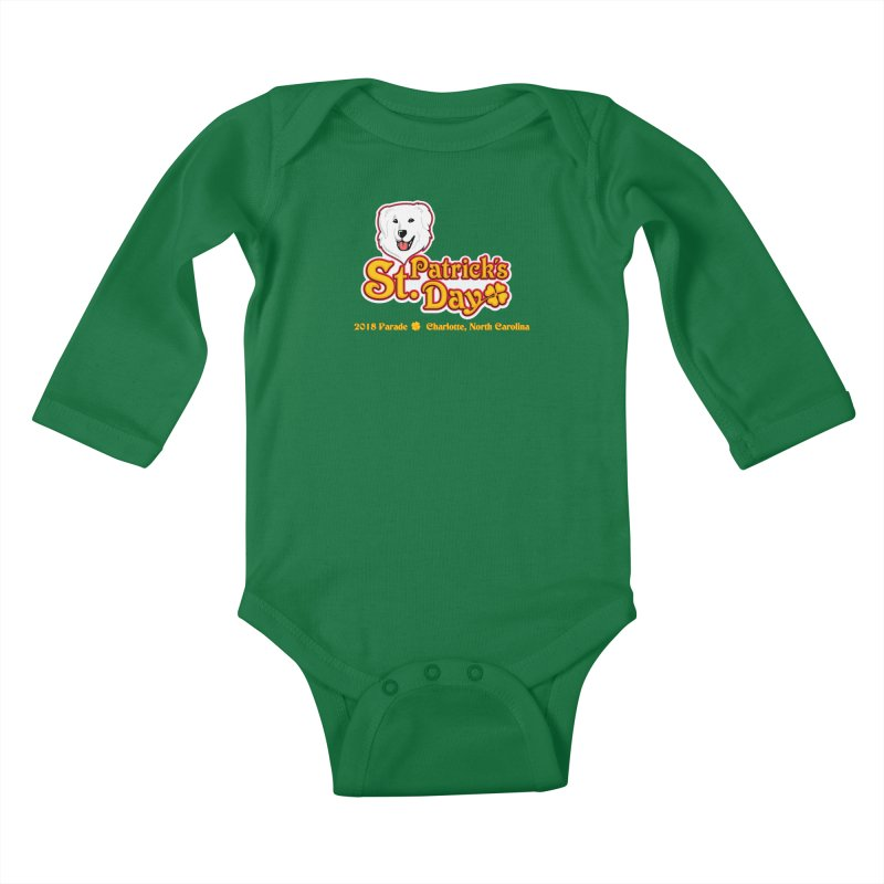 Parade 2018 Kids Baby Longsleeve Bodysuit by Carolina Great Pyrenees Rescue's Shop