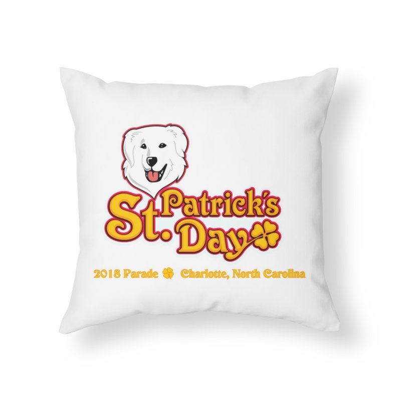 Parade 2018 Home Throw Pillow by Carolina Great Pyrenees Rescue's Shop