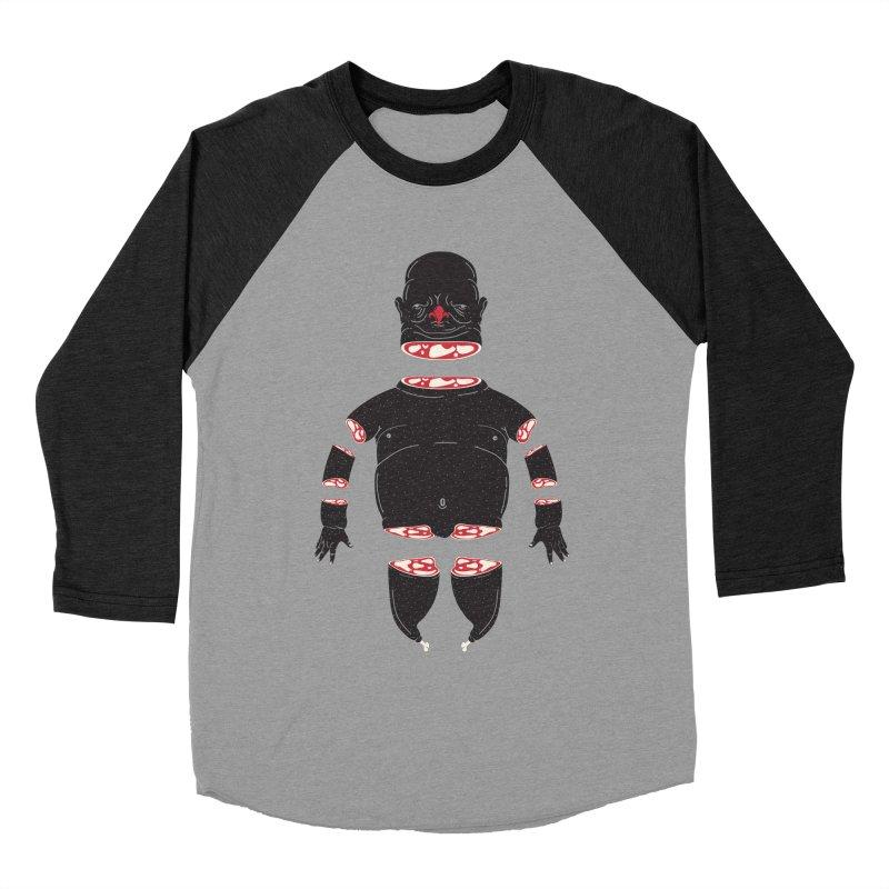 Chicken Meathead Men's Baseball Triblend Longsleeve T-Shirt by CHRISRW's Artist Shop
