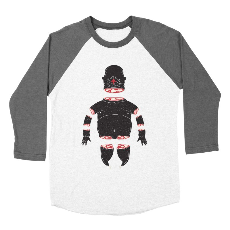 Chicken Meathead Men's Baseball Triblend T-Shirt by CHRISRW's Artist Shop