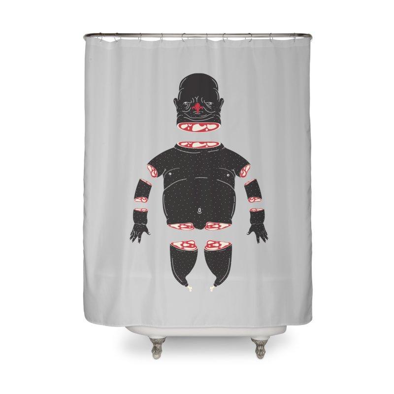 Chicken Meathead Home Shower Curtain by CHRISRW's Artist Shop