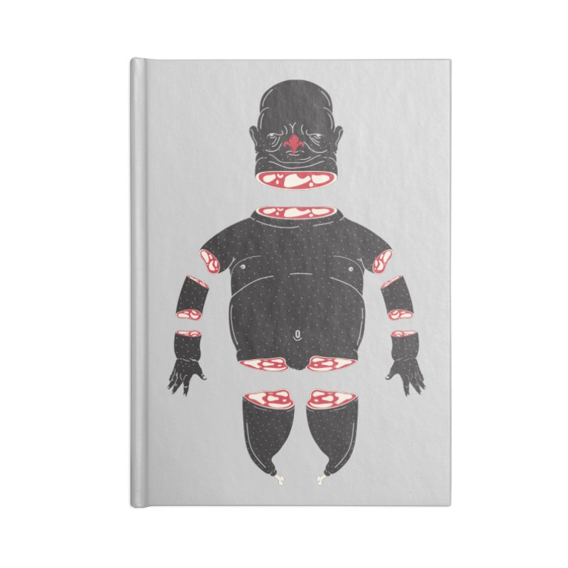 Chicken Meathead Accessories Blank Journal Notebook by CHRISRW's Artist Shop