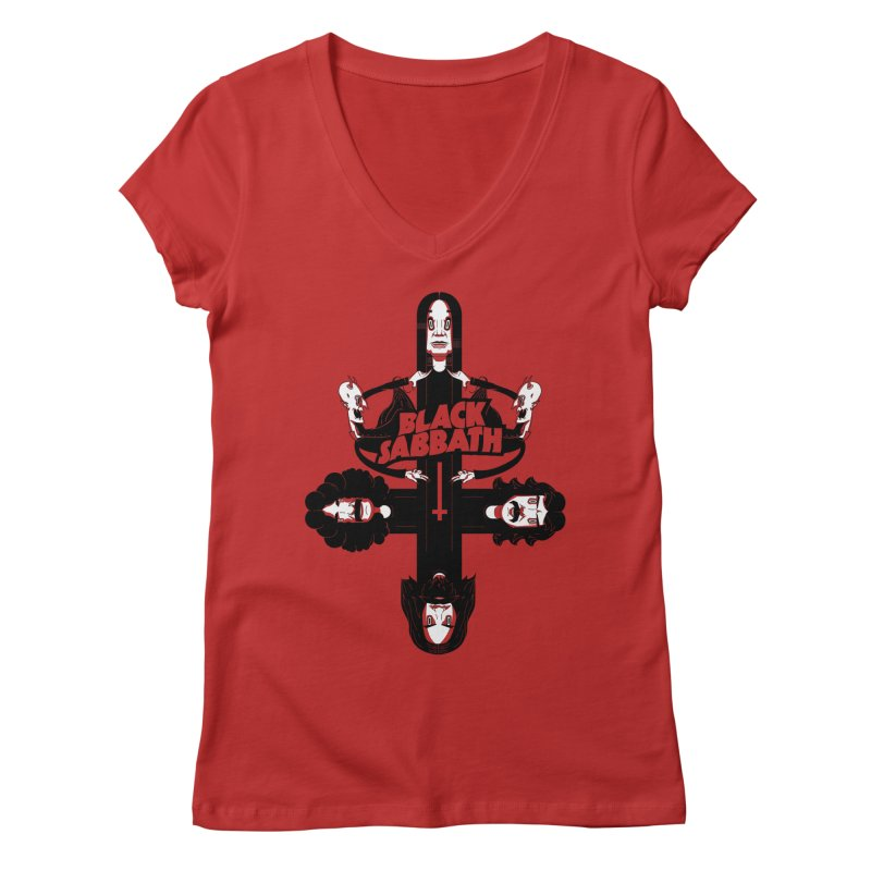 Sabbath Shirt Women's V-Neck by CHRISRW's Artist Shop