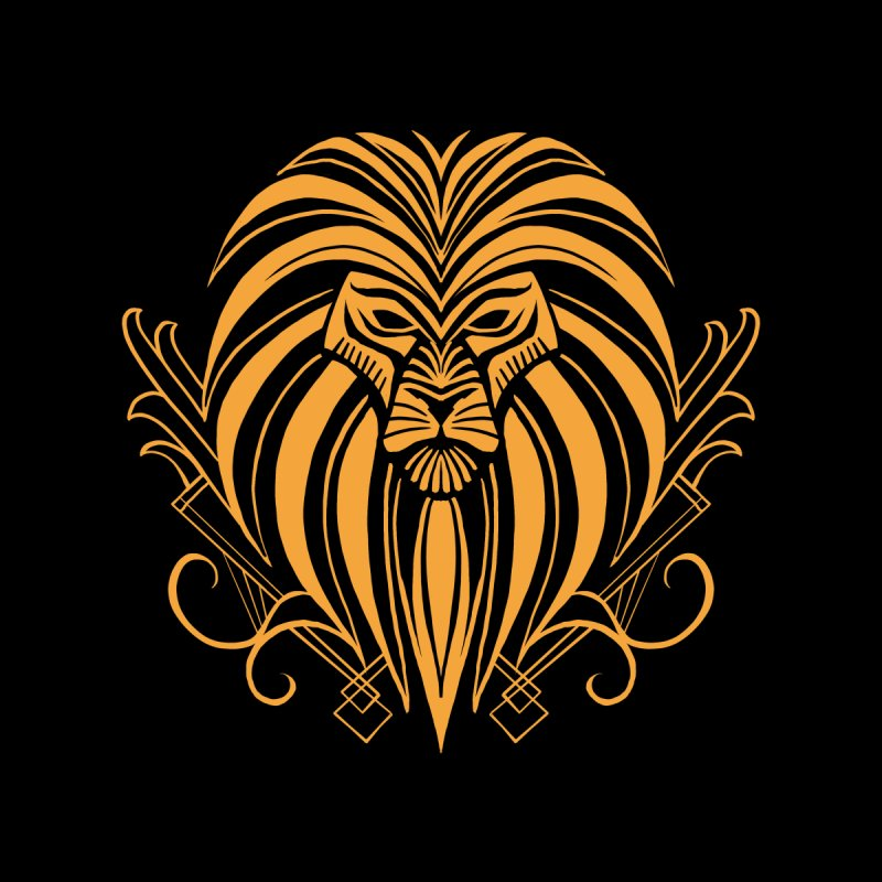 Art Deco Old and Bold Lion by CLCanadyArts Neat stuff