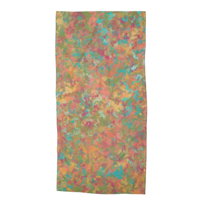 Peacock Marble Accessories Beach Towel by Christy Leigh Creative