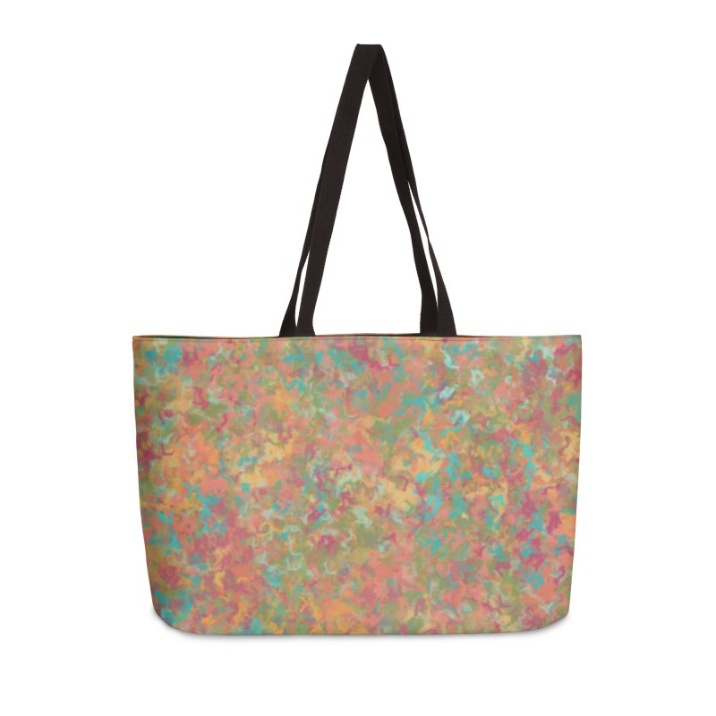 Peacock Marble Accessories Weekender Bag Bag by Christy Leigh Creative