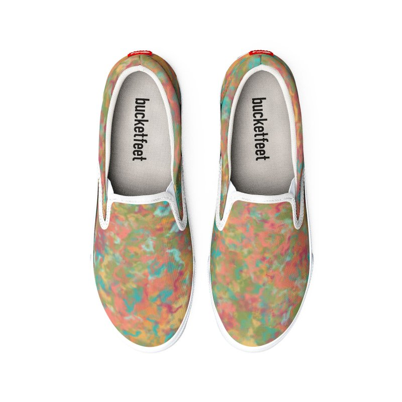 Peacock Marble Men's Shoes by Christy Leigh Creative