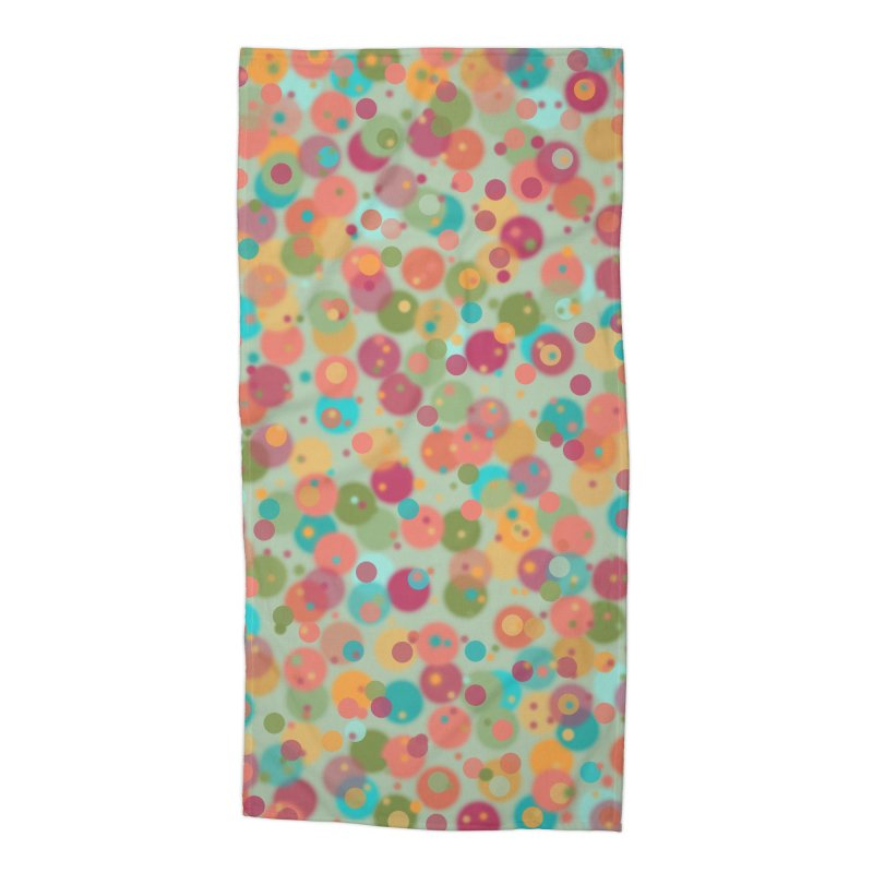 Peacock Polka Dots Accessories Beach Towel by Christy Leigh Creative