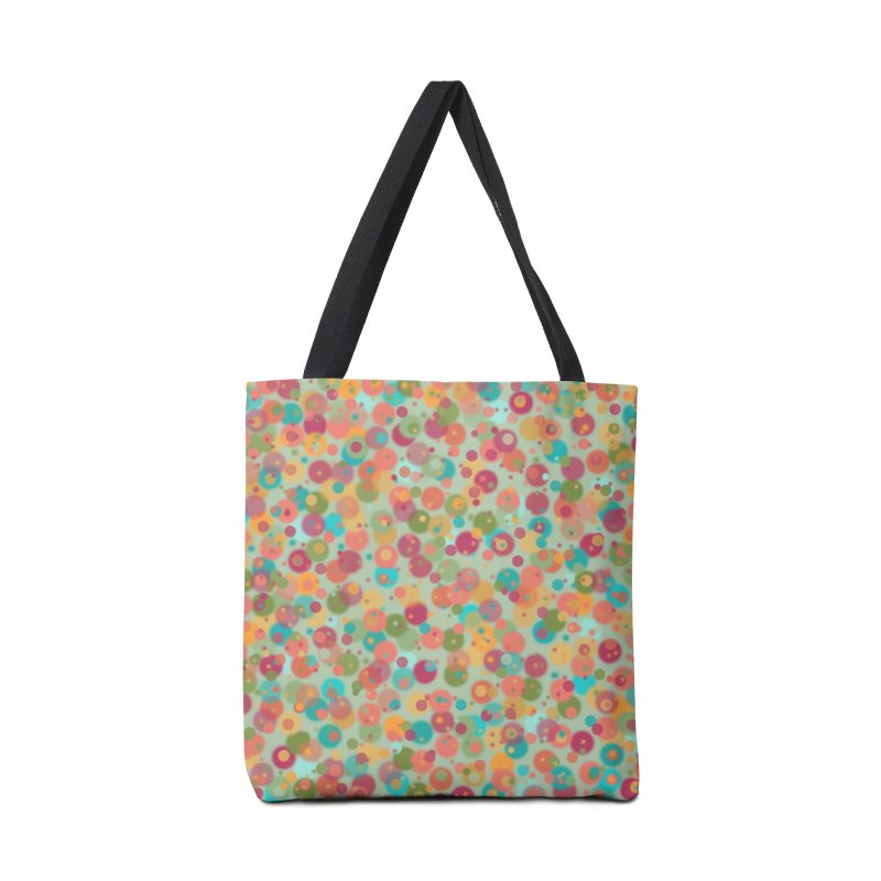 Peacock Polka Dots Accessories Bag by Christy Leigh Creative