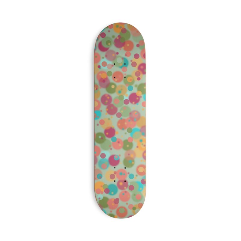 Peacock Polka Dots Accessories Skateboard by Christy Leigh Creative