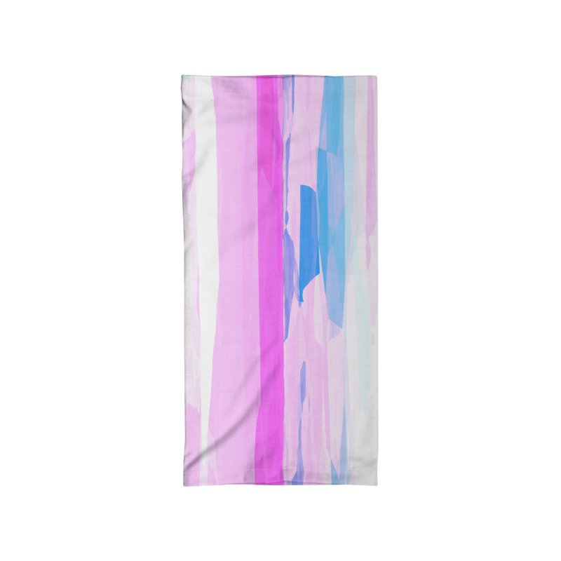 Colorful Streaked Stripes 2 Accessories Neck Gaiter by Christy Leigh Creative