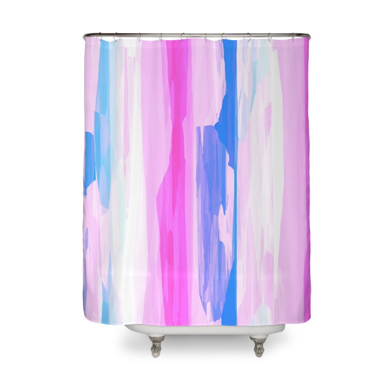 Colorful Streaked Stripes 2 Home Shower Curtain by Christy Leigh Creative