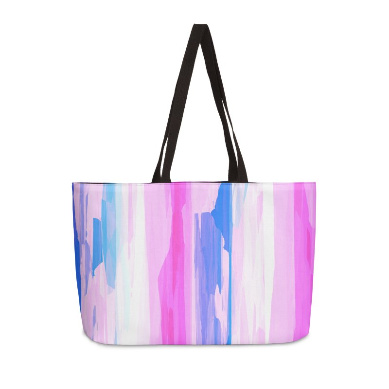 Colorful Streaked Stripes 2 Accessories Bag by Christy Leigh Creative