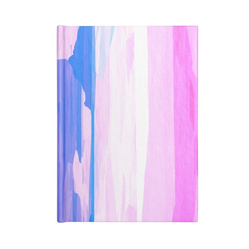 Colorful Streaked Stripes 2 Accessories Notebook by Christy Leigh Creative