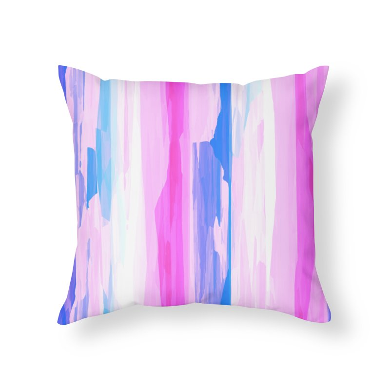 Colorful Streaked Stripes 2 Home Throw Pillow by Christy Leigh Creative