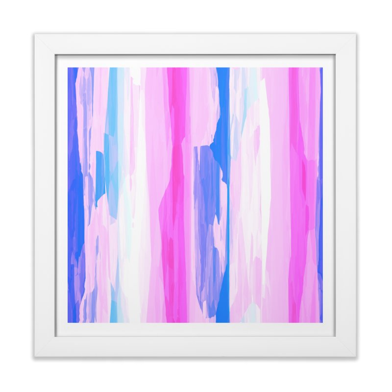 Colorful Streaked Stripes 2 Home Framed Fine Art Print by Christy Leigh Creative