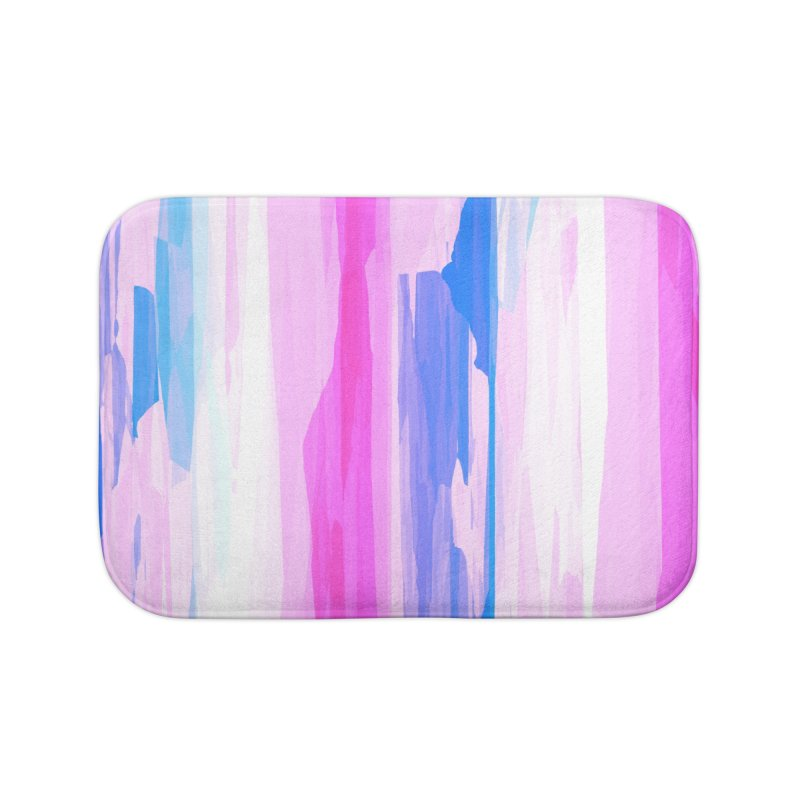 Colorful Streaked Stripes 2 Home Bath Mat by Christy Leigh Creative