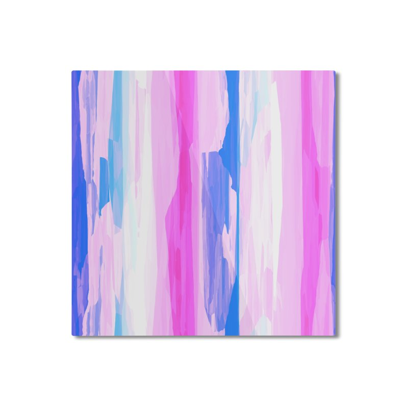 Colorful Streaked Stripes 2 Home Mounted Aluminum Print by Christy Leigh Creative