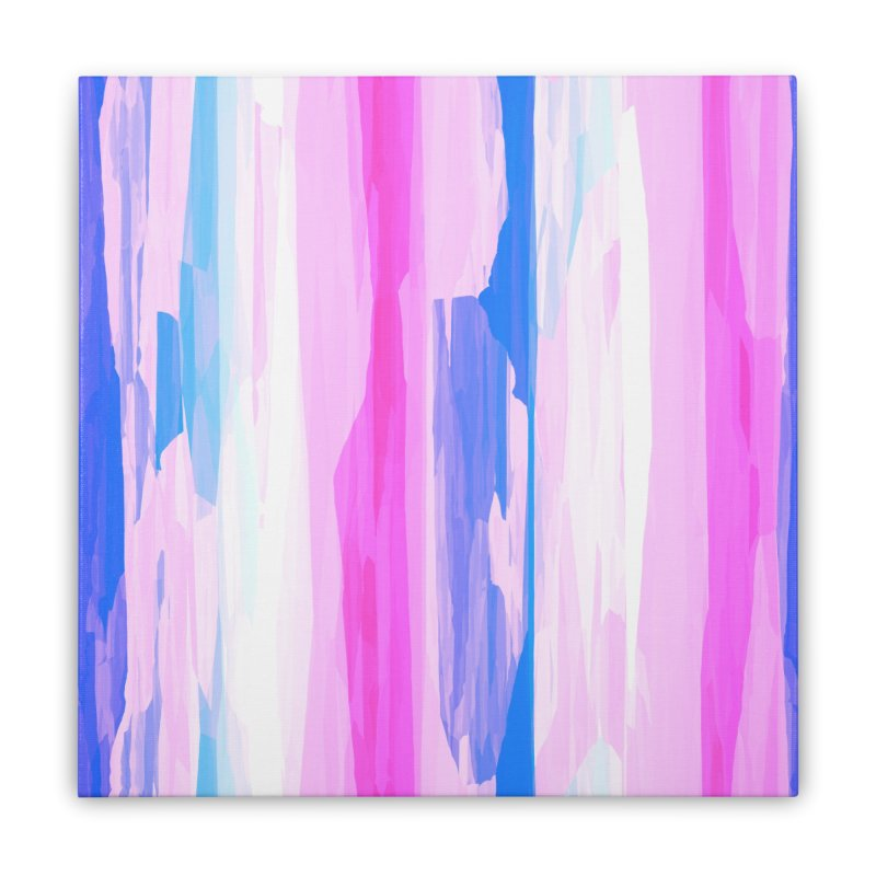 Colorful Streaked Stripes 2 Home Stretched Canvas by Christy Leigh Creative