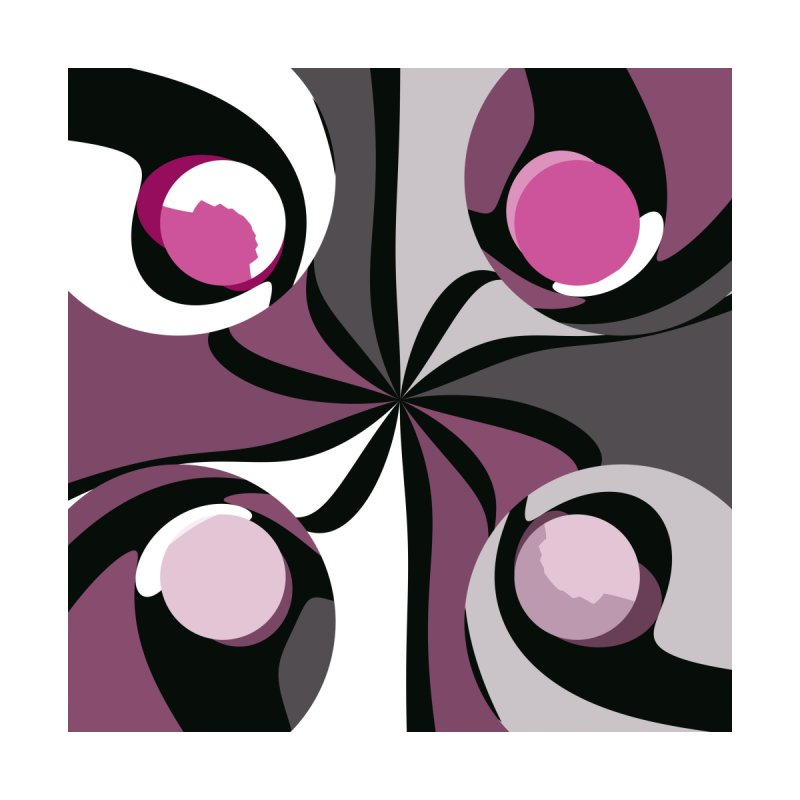 Pink black gray and white abstract 5 by Christy Leigh Creative