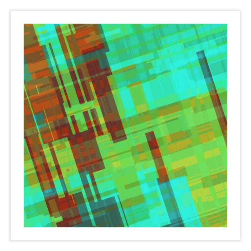 ORange and green abstract Home Fine Art Print by Christy Leigh Creative