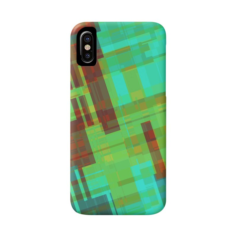 ORange and green abstract Accessories Phone Case by Christy Leigh Creative